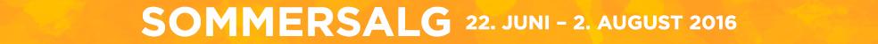 SOMMERSALG 22. juni – 2. august 2016