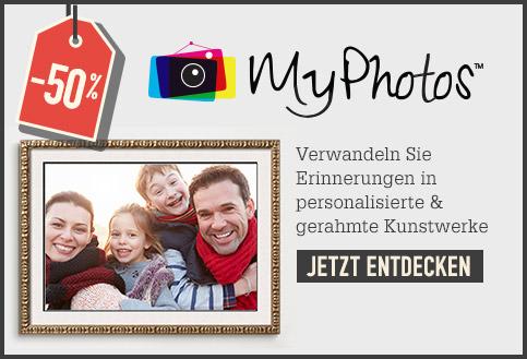 50% MyPhotos. Verwandeln Sie Erinnerungen in personalisierte & gerahmte Kunstwerke. JETZT ENTDECKEN