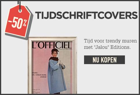 -50% TIJDSCHRIFTCOVERS. Tijd voor trendy muren met Jalou Editions. NU KOPEN