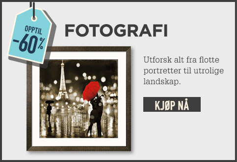 Opptil -60 % FOTOGRAFI. Utforsk alt fra flotte portretter til utrolige landskap. KJØP NÅ