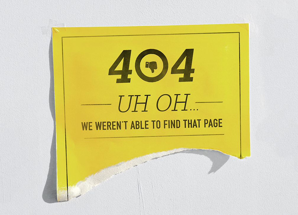 Error 404 -- Uh oh - We weren't able to find that page.