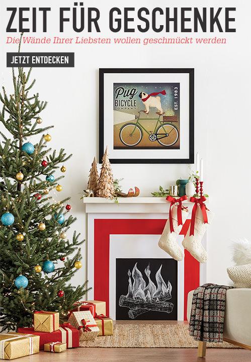 Zeit für Geschenke. Die Wände Ihrer Liebsten wollen geschmückt werden. Jetzt entdecken
