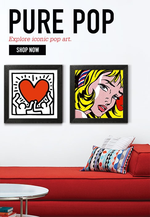 PURE POP. Explore iconic pop art. Shop Now