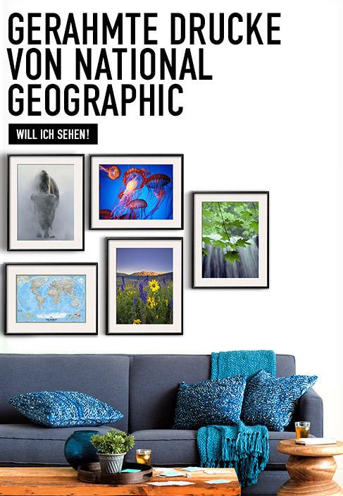 Gerahmte Drucke von National Geographic. WILL ICH SEHEN!