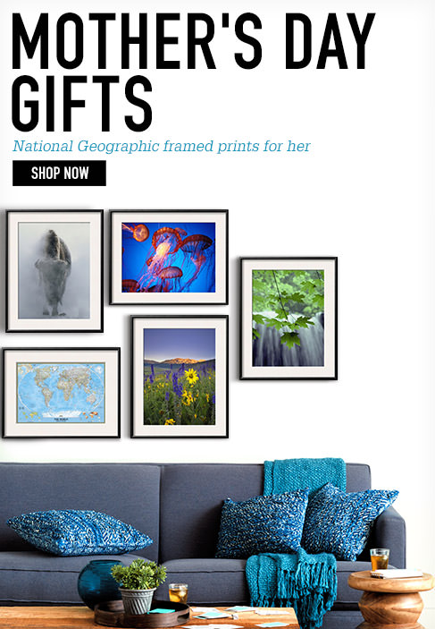 Mother's Day Gifts. National Geographic framed prints for her. SHOP NOW