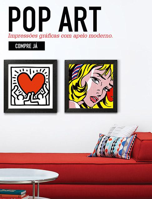 POP ART. Impressões gráficas com apelo moderno. COMPRE JÁ