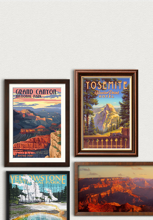 NATIONAL PARK CENTENNIAL. Celebrate with posters of America's most beloved parks.. SHOP NOW