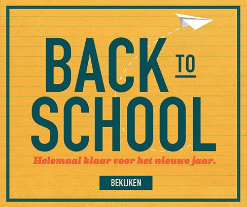 Back to school. Helemaal klaar voor het nieuwe jaar. BEKIJKEN