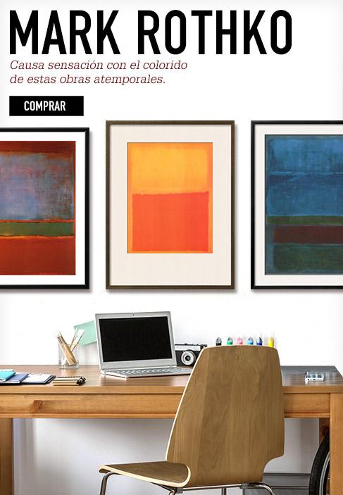 Mark Rothko. Causa sensación con el colorido de estas obras atemporales. Comprar