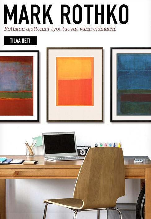 Mark Rothko. Rothkon ajattomat työt tuovat väriä elämääsi. Tilaa heti.