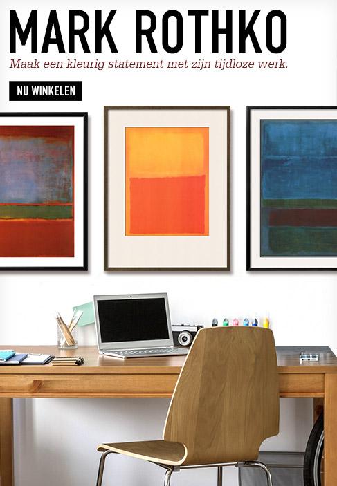 Mark Rothko. Maak een kleurig statement met zijn tijdloze werk. Nu winkelen.