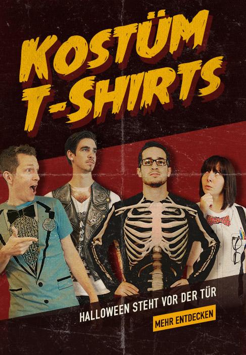 Kostüm-T-Shirts. Halloween steht vor der Tür. Mehr entdecken.