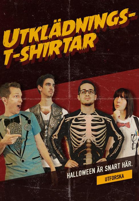 Utklädnings-t-shirtar. Halloween är snart här. Utforska.