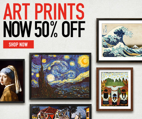 Art Prints. Now 50% Off. Shop Now.