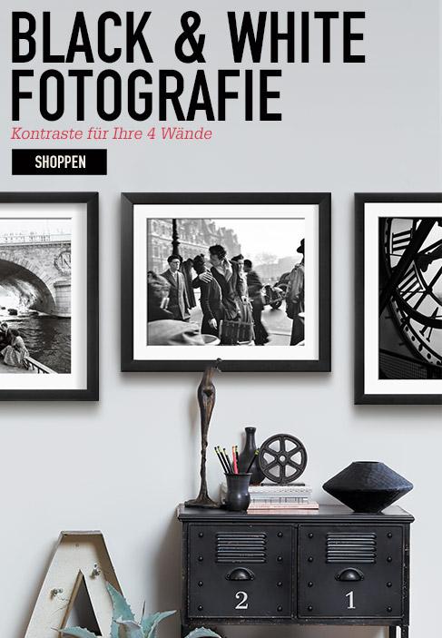 Black & White Fotografie. Kontraste für Ihre 4 Wände. Shoppen