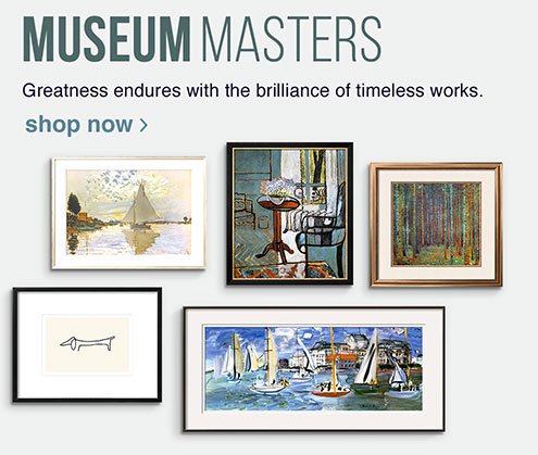 MUSEUM MASTERS. Greatness endures with the brilliance of timeless works. SHOP NOW