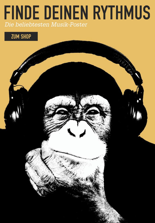 Finde Deinen Rythmus. Die beliebtesten Musik-Poster. Zum Shop