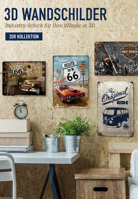 S3D Wandschilder. Industry-Schick für Ihre Wände in 3D. Zur Kollektion