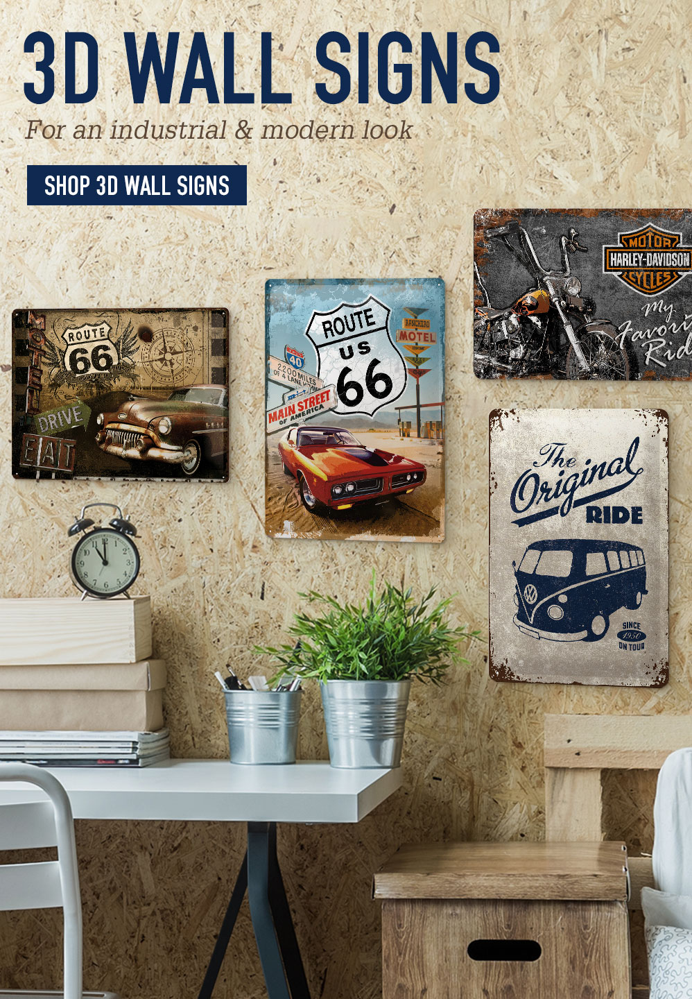 3D Wall Signs. For an industrial & modern look. Shop 3D Wall Signs