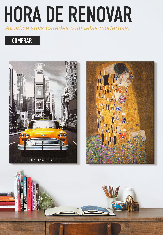 HORA DE RENOVAR. Atualize suas paredes com telas modernas. Comprar