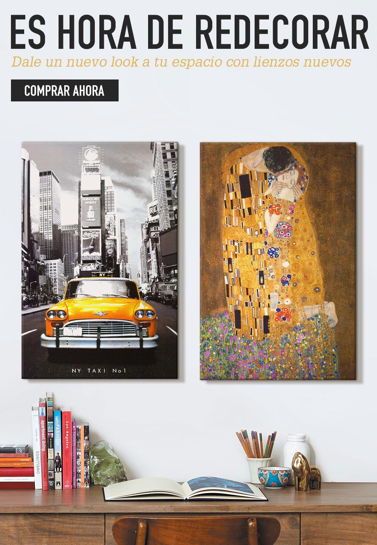 Es hora de redecorar. Dale un nuevo look a tu espacio con lienzos nuevos. Comprar ahora