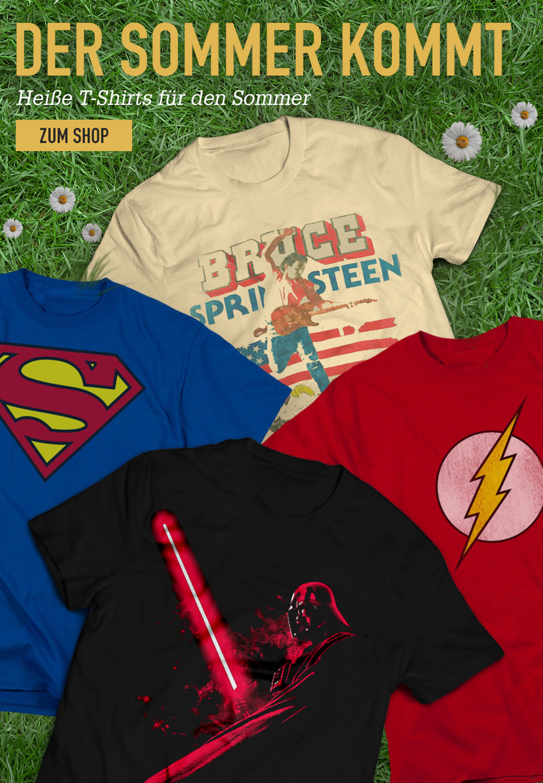 Der Sommer kommt. Heiße T-Shirts für den Sommer. Zum Shop