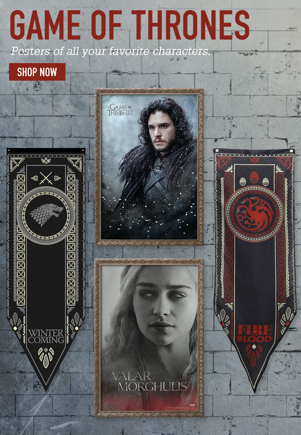 GAME OF THRONES. Posters of all your favorite characters. SHOP NOW