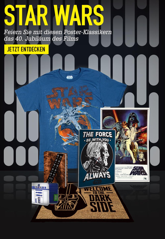 STAR WARS. Feiern Sie das 40-jährige Jubiläum des Films mit diesen Poster-Klassikern. JETZT ENTDECKEN