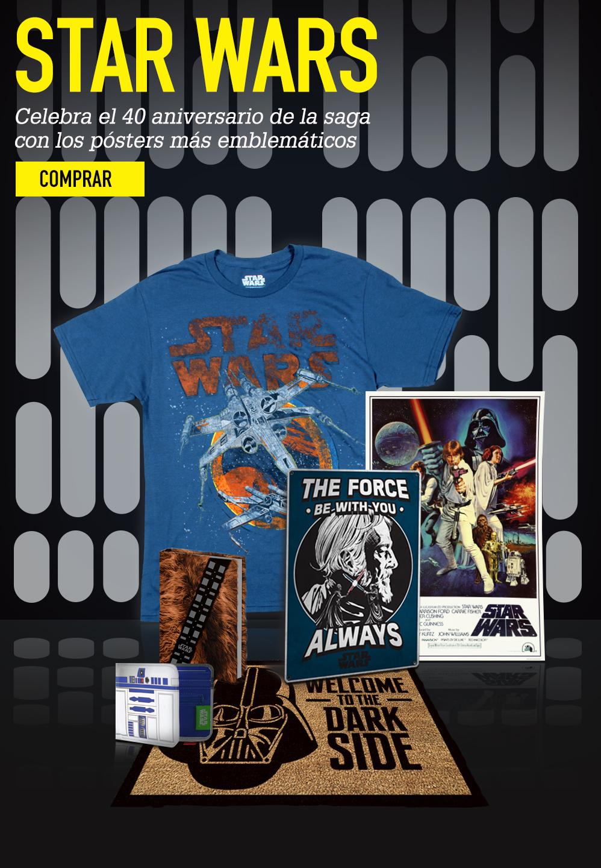 STAR WARS. Celebra el 40 aniversario de la saga con los pósters más emblemáticos. COMPRAR