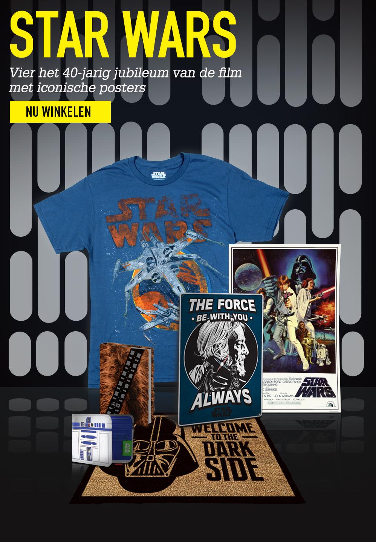 STAR WARS. Vier het 40-jarig jubileum van de film met iconische posters. Nu winkelen