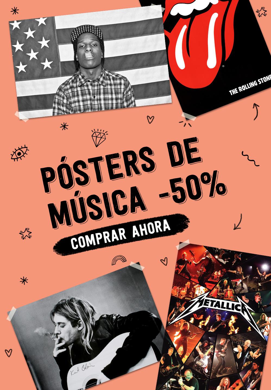 PÓSTERS DE MÚSICA -50% COMPRAR AHORA
