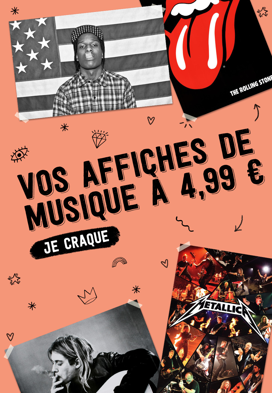 Vos affiches de musique à 4,99 €