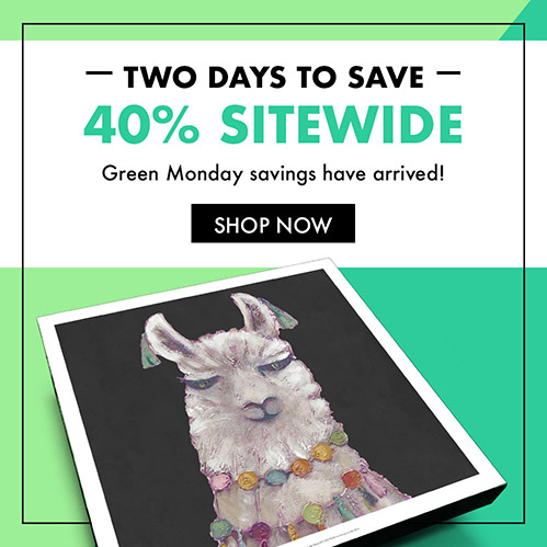 Two Days to Save 40% Sitewide. Green Monday savings have arrived! Shop Now