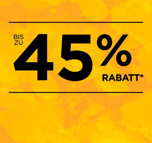 Bis zu 45 % Rabatt*. JETZT ENTDECKEN. *Angebot gilt vom 26. bis zum 30. Juni 2016.