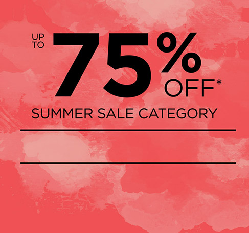 Up to 75% off Summer Sale Category + Free Delivery! *. SHOP NOW. *Offer available from 24th to 28th July 2016. With a minimum purchase of £ 15