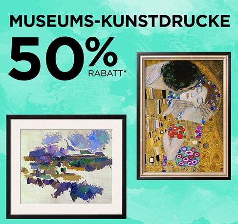 Museums-Kunstdrucke 50 % Rabatt*. JETZT ENTDECKEN. *Angebot gilt vom 27. bis zum 28. Juli 2016