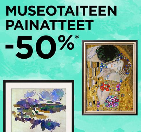 Museotaiteen painatteet -50 %*. TILAA NYT. *Tarjous voimassa 27.–28.7.2016