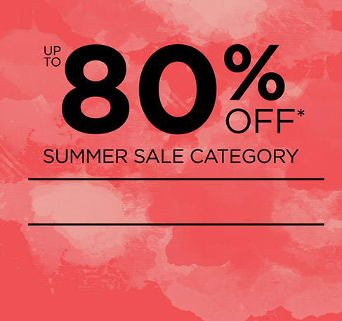 Up to 80% off Summer Sale Category + Free Delivery!*. SHOP NOW. *Offer available from 29th July to 2nd August 2016. With a minimum purchase of £ 15