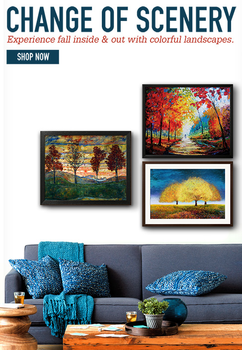 Change of Scenery experience fall inside and out with colorful landscapes. Shop Now