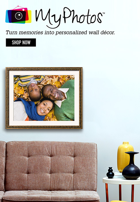 MyPhotos Turn Memories into personalized wall décor. Shop Now