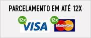 Parcelamento em até 12x Visa Mastercard
