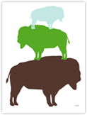 Green Buffalo Affiches par Avalisa sur AllPosters.fr