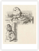 Alice Meets Humpty Dumpty and Hears the Alarming Story of His Great Fall reproduction proc&#233;d&#233; gicl&#233;e sur AllPosters.fr