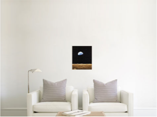 How a 16x20 canvas print appears in a room