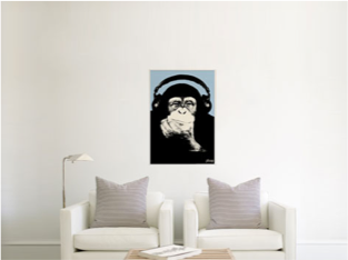 How a 24x36 canvas print appears in a room