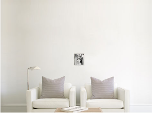How a 8x10 canvas print appears in a room