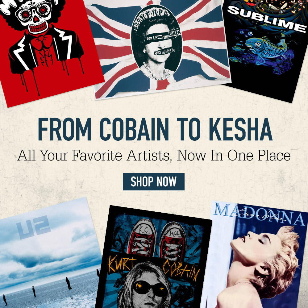 From Cobain to Kesha. All your favorite artists, now in one place. Shop now