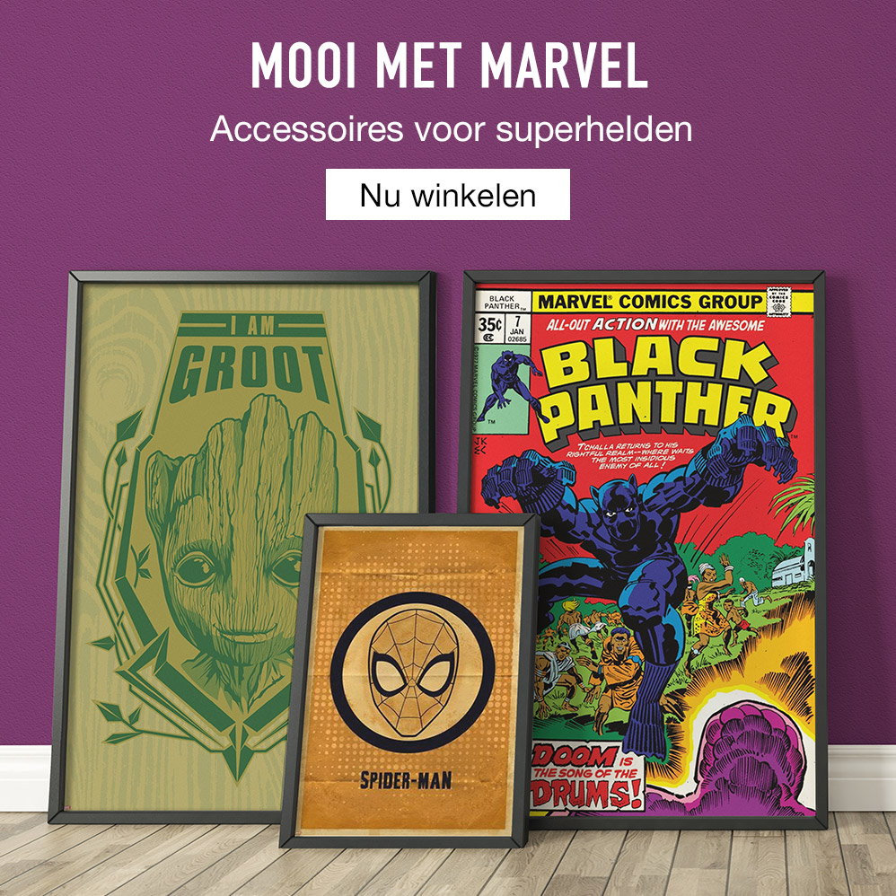 Mooi met Marvel. Accessoires voor superhelden. Nu winkelen
