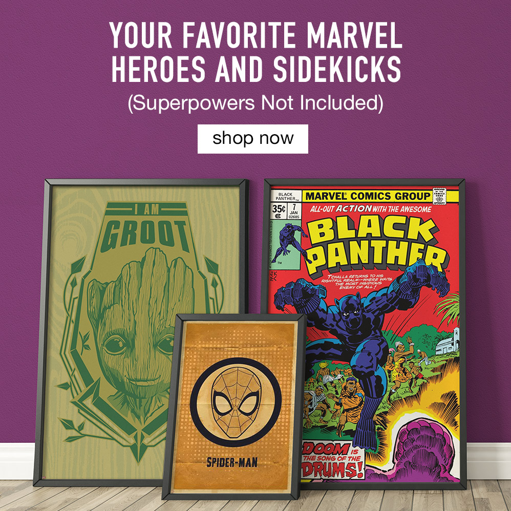 Your Favorite Marvel Heroes and Sidekicks. Superpowers Not Included. Shop Now