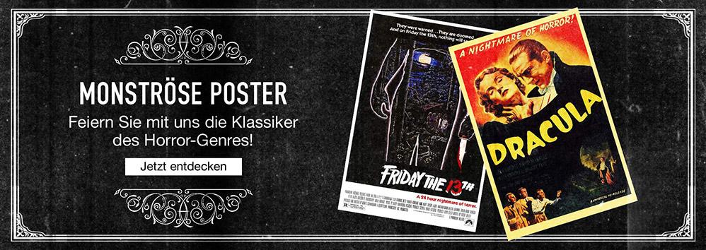 Monströse Poster. Feiern Sie mit uns die Klassiker des Horror-Genres! Jetzt entdecken